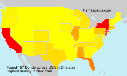 Surname Donde in USA