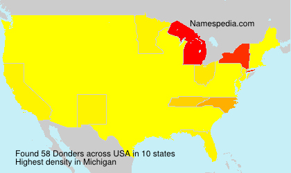 Surname Donders in USA