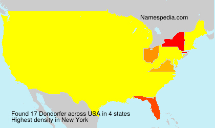 Surname Dondorfer in USA