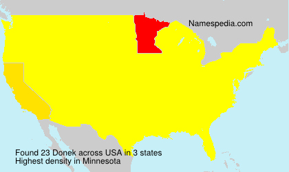Surname Donek in USA