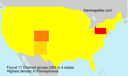 Surname Donharl in USA