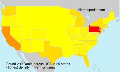 Surname Donia in USA