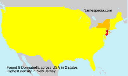 Surname Donnabella in USA