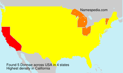 Surname Donnae in USA