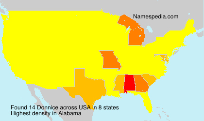 Surname Donnice in USA