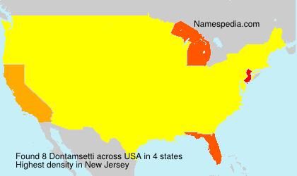 Familiennamen Dontamsetti - USA