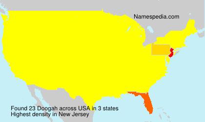 Surname Doogah in USA