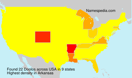 Surname Doolos in USA