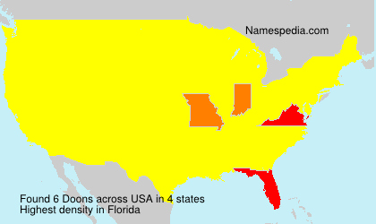 Surname Doons in USA
