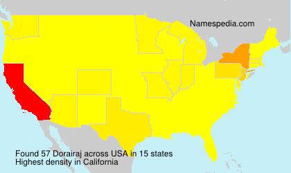 Surname Dorairaj in USA