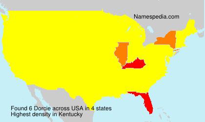 Surname Dorcie in USA