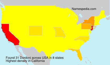 Surname Dordoni in USA