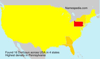 Familiennamen Dorfzaun - USA