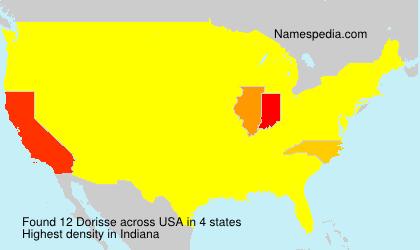 Familiennamen Dorisse - USA