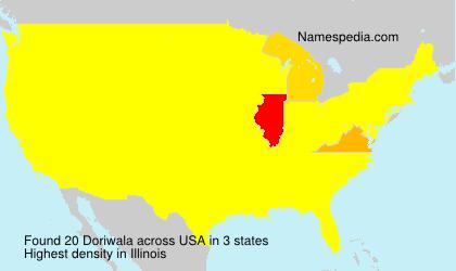 Surname Doriwala in USA