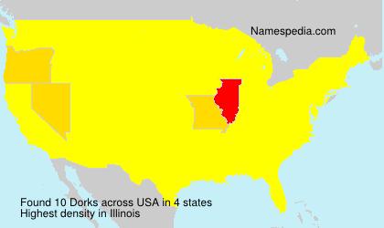Familiennamen Dorks - USA