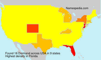 Surname Dormand in USA