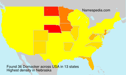 Surname Dornacker in USA