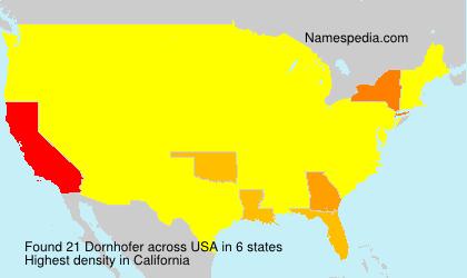 Surname Dornhofer in USA