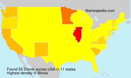 Surname Dornik in USA