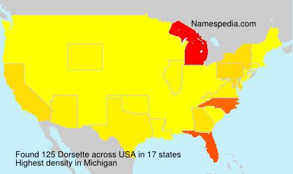 Familiennamen Dorsette - USA