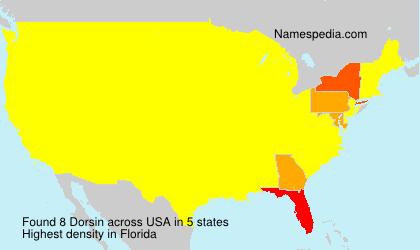 Surname Dorsin in USA