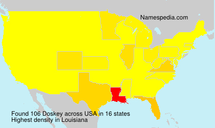 Surname Doskey in USA