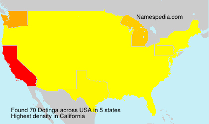 Surname Dotinga in USA