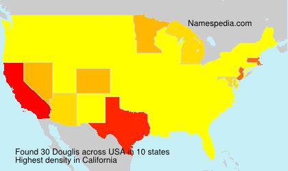 Surname Douglis in USA