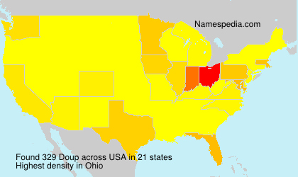 Surname Doup in USA