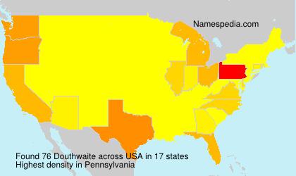 Surname Douthwaite in USA