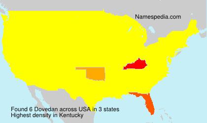 Familiennamen Dovedan - USA