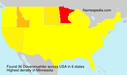 Surname Dovenmuehler in USA