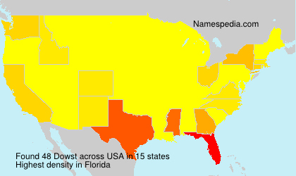Surname Dowst in USA