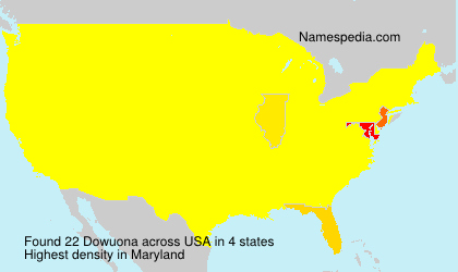 Surname Dowuona in USA