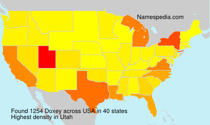 Surname Doxey in USA