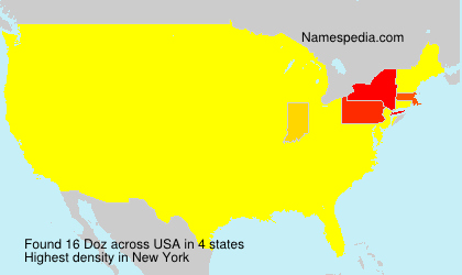 Surname Doz in USA