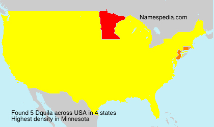 Surname Dquila in USA