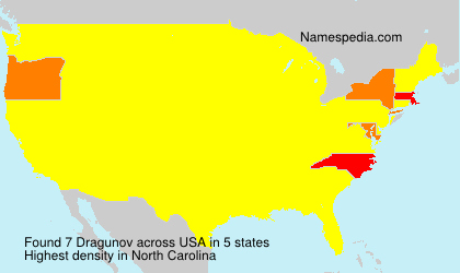 Surname Dragunov in USA
