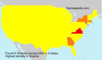 Surname Dramani in USA