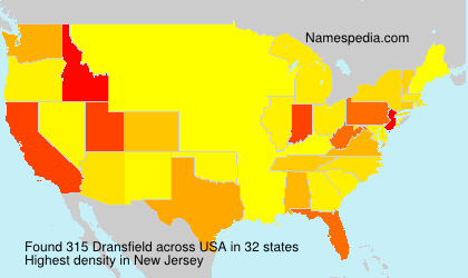 Familiennamen Dransfield - USA