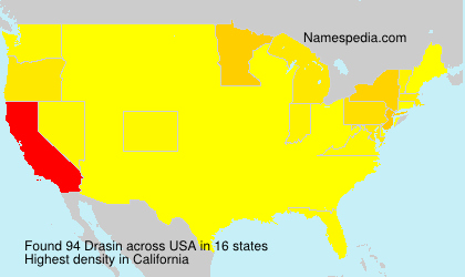 Surname Drasin in USA