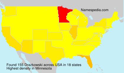 Surname Drazkowski in USA