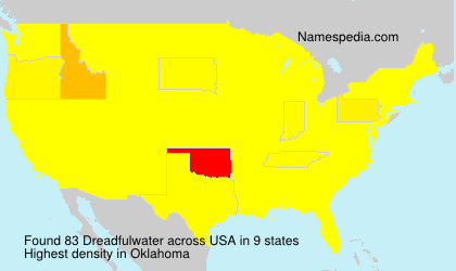 Surname Dreadfulwater in USA