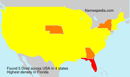 Surname Dred in USA