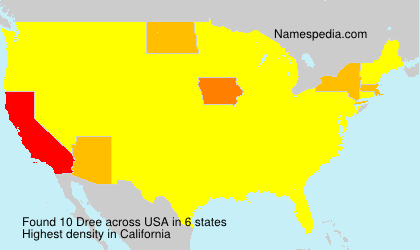 Surname Dree in USA