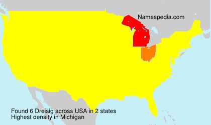 Familiennamen Dreisig - USA