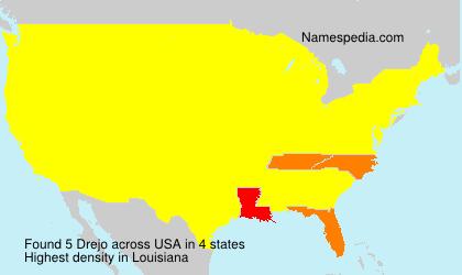 Surname Drejo in USA