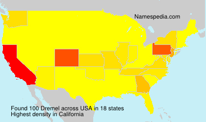 Surname Dremel in USA