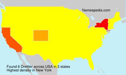 Surname Drettler in USA